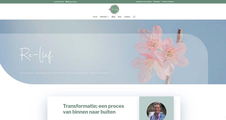 Re-lief | Logo en site